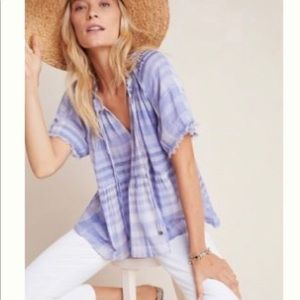 Anthropologie The Bette Babydoll Blouse